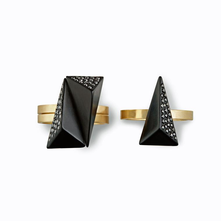 Jacqueline Cullen black diamond rings