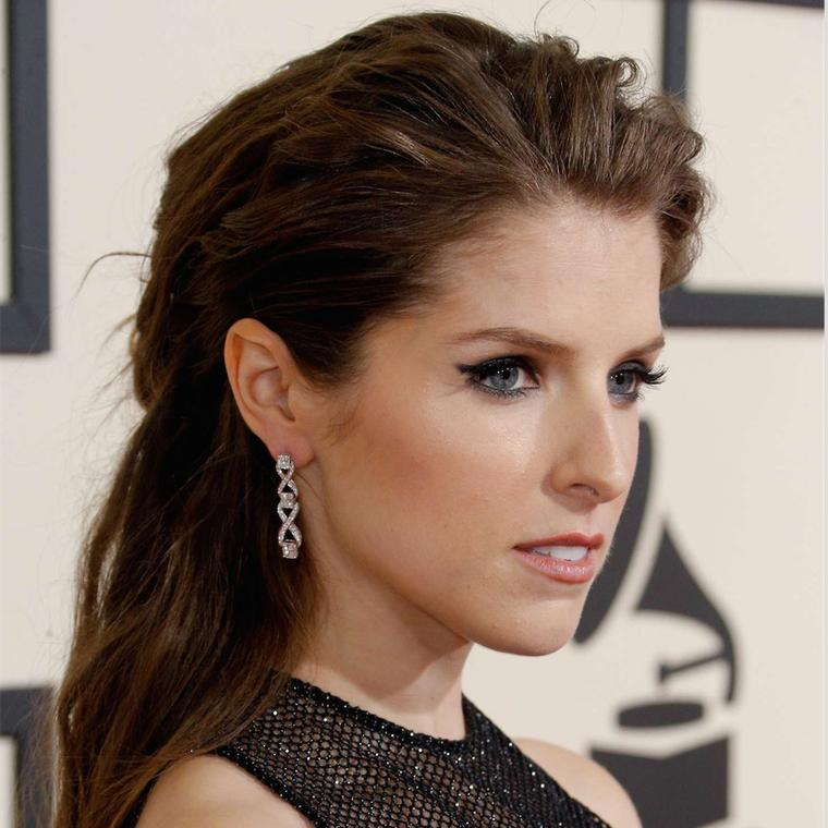 Anna Kendrick wearing Harry Kotlar earrings