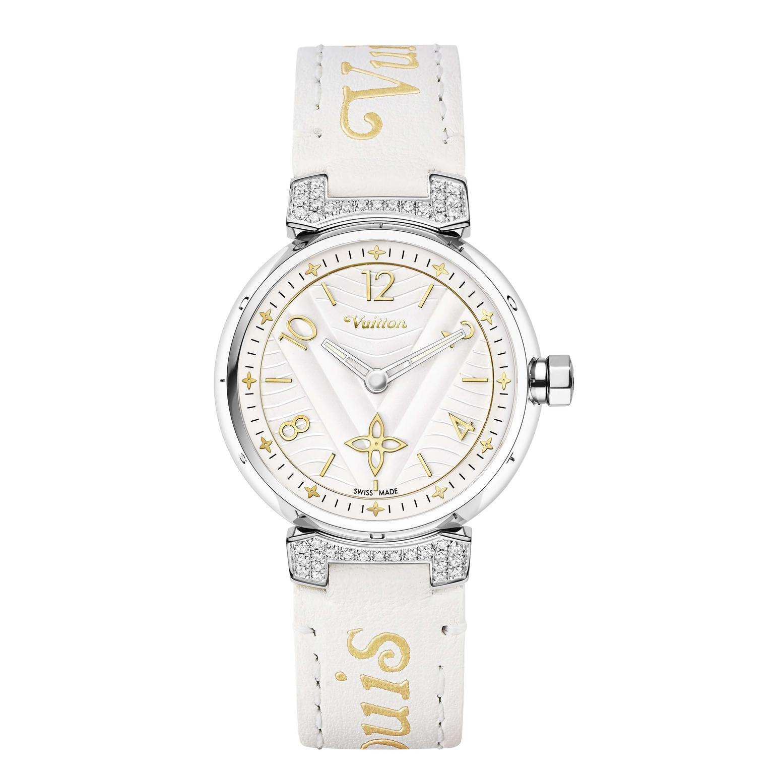 Louis Vuitton Tambour New Wave 34 mm watch with diamonds