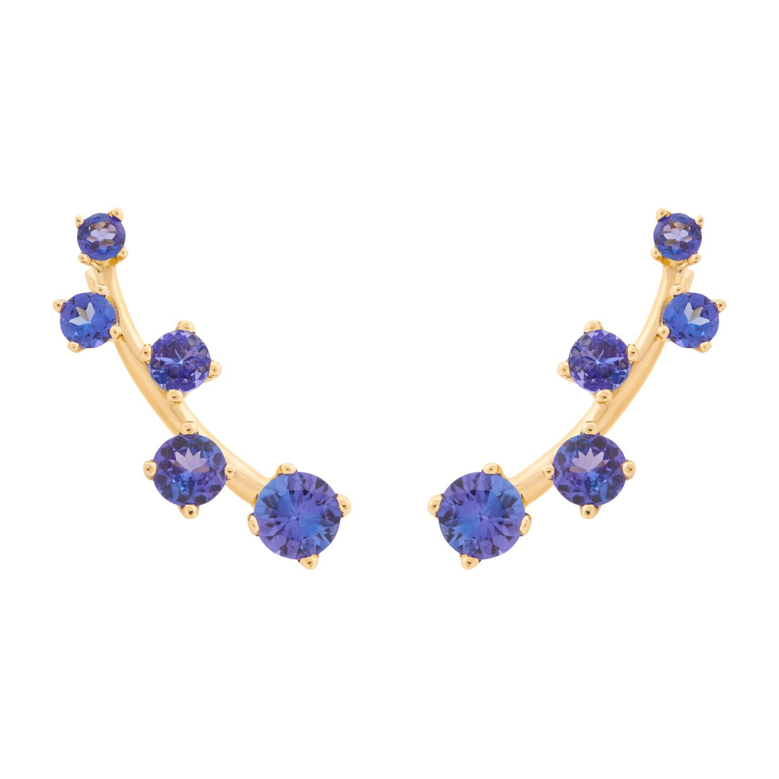 AYA Africa Sanyati cuff earrings with tanzanite