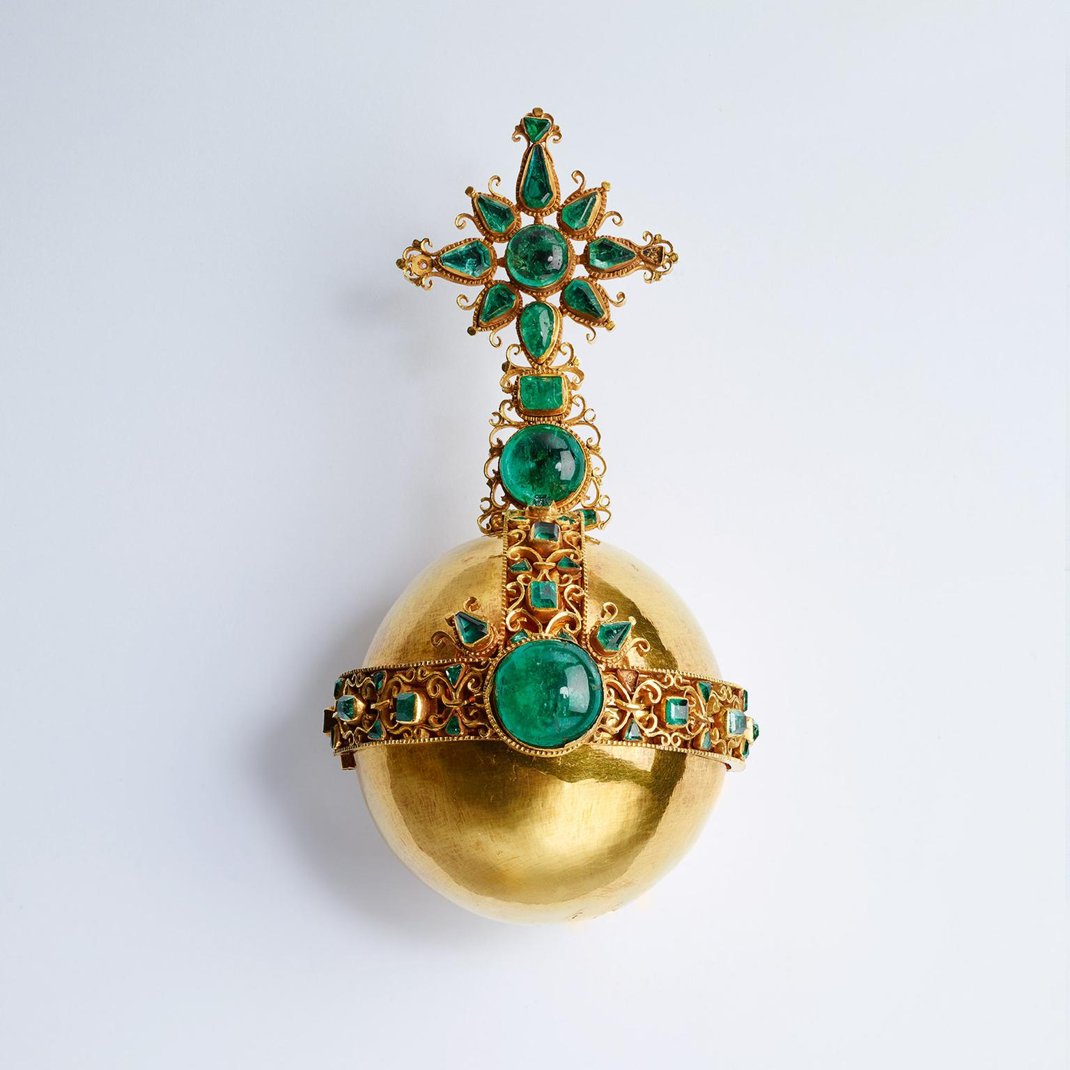 Royal Orb with Muzo Colombian emeralds