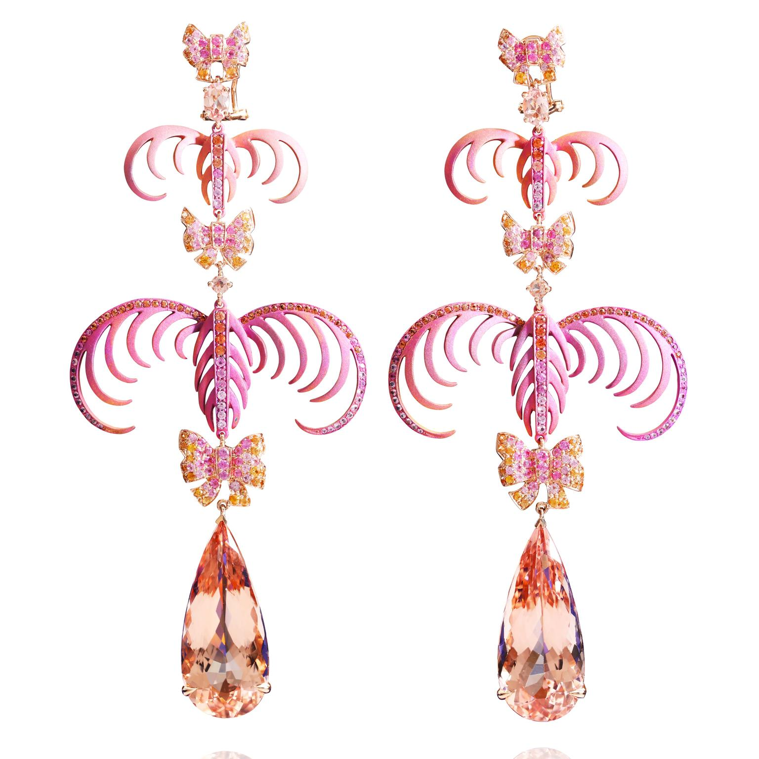 Lydia Courteille La Vie en Rose earrings