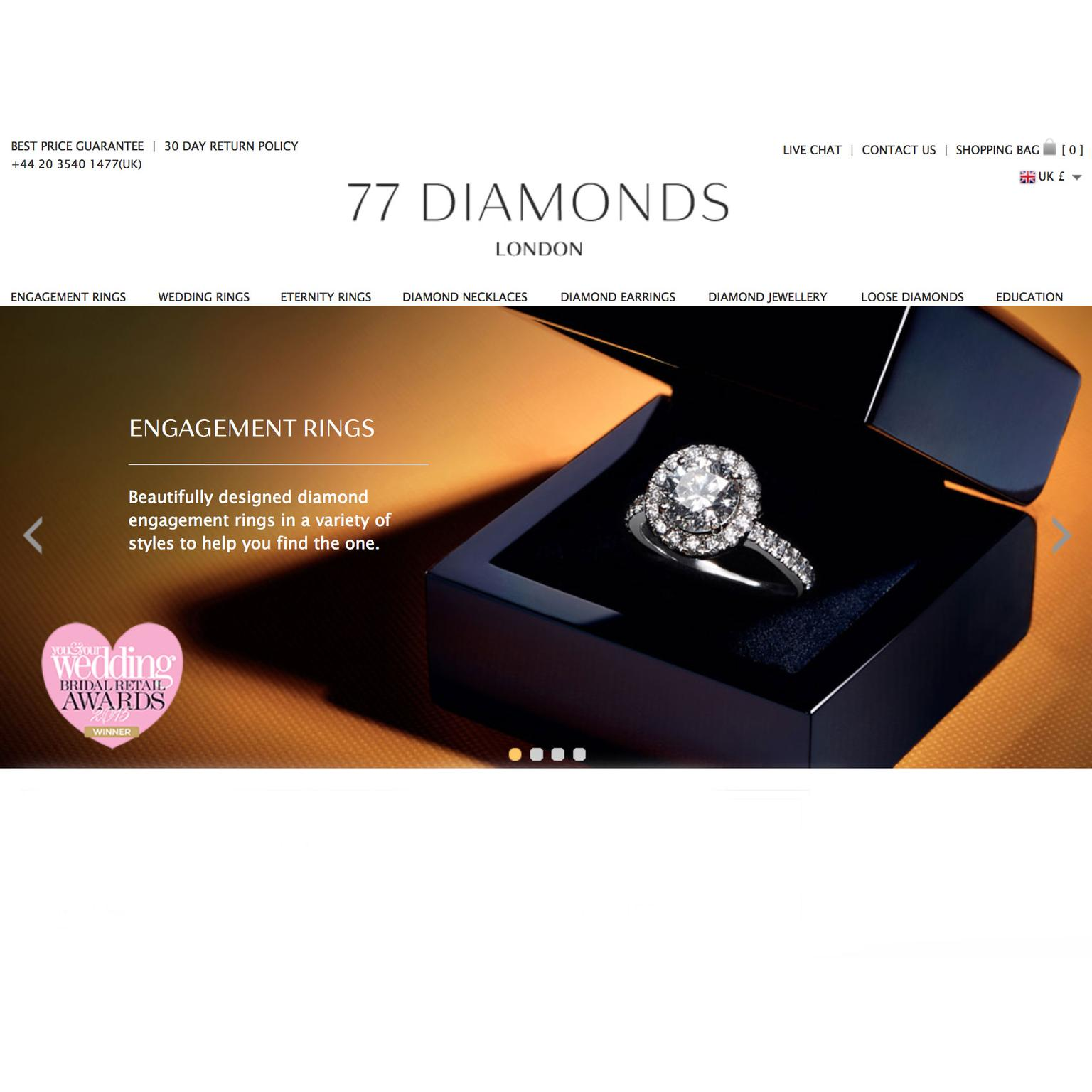 77 Diamonds online jewellery boutique