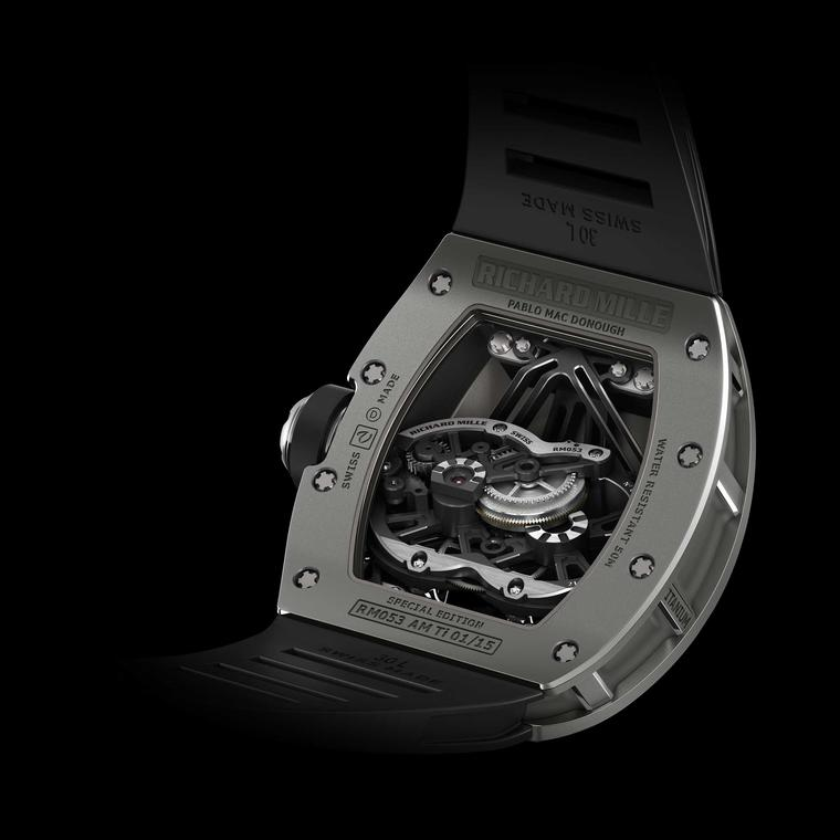 Richard Mille Pablo MacDonough RM 053 watch back