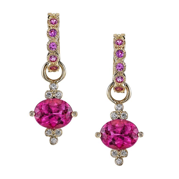 Erica Courtney Gumdrop rubellite earrings