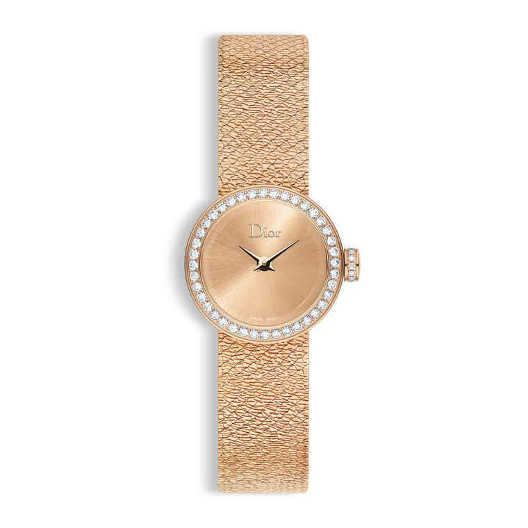 La Mini D de Dior Satine watch in pink gold
