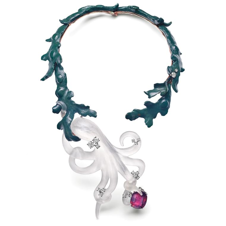 Chaumet Octopus necklace 1970 designed by Robert Lemoine