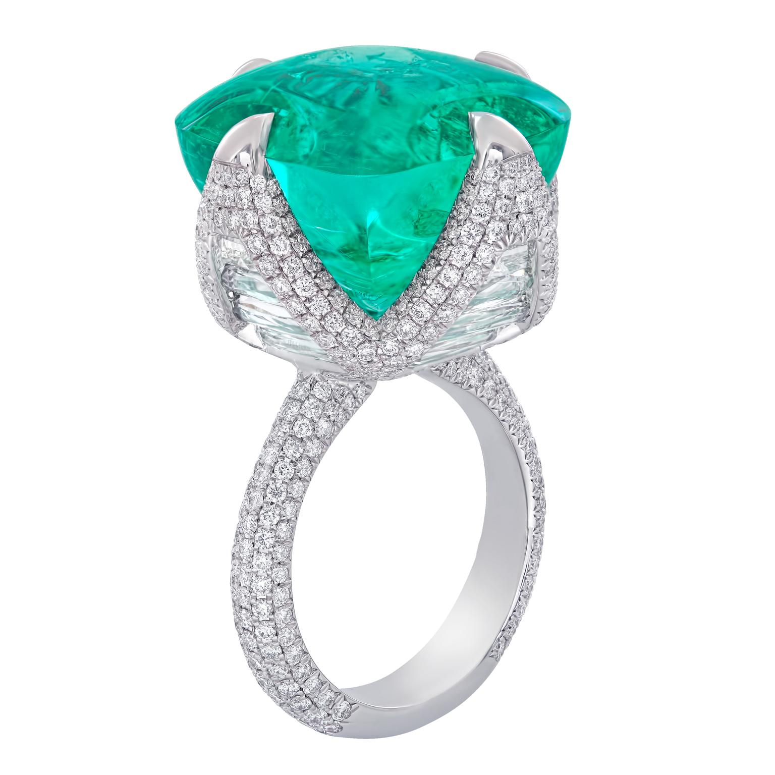 Nirav Modi Colombian Emerald and diamond Ring