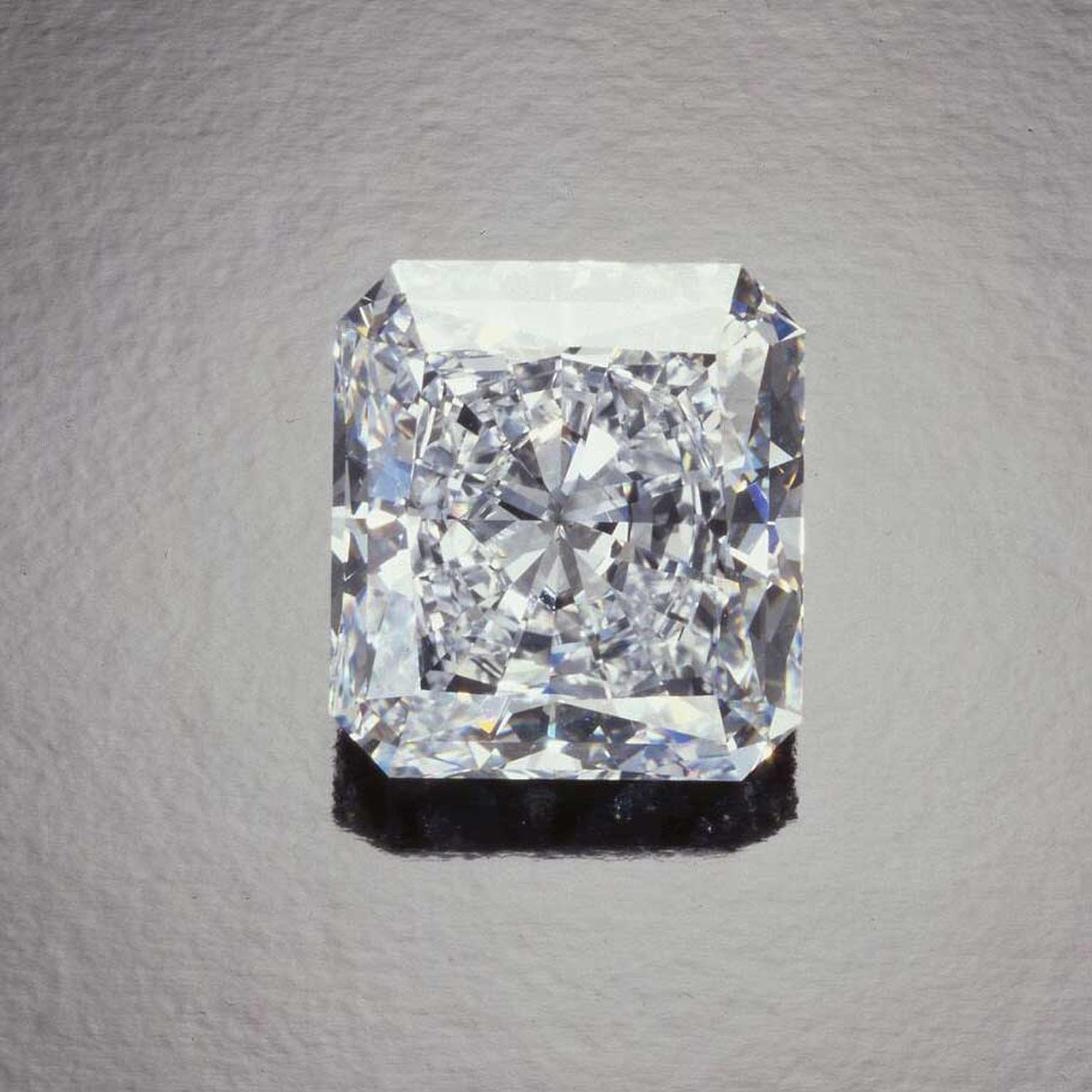 The Star of Happiness 100.36 carats, DIF diamond sold at Sotheby's Geneva in 1993 for US$ 11.9 million or US$118,397 per carat.