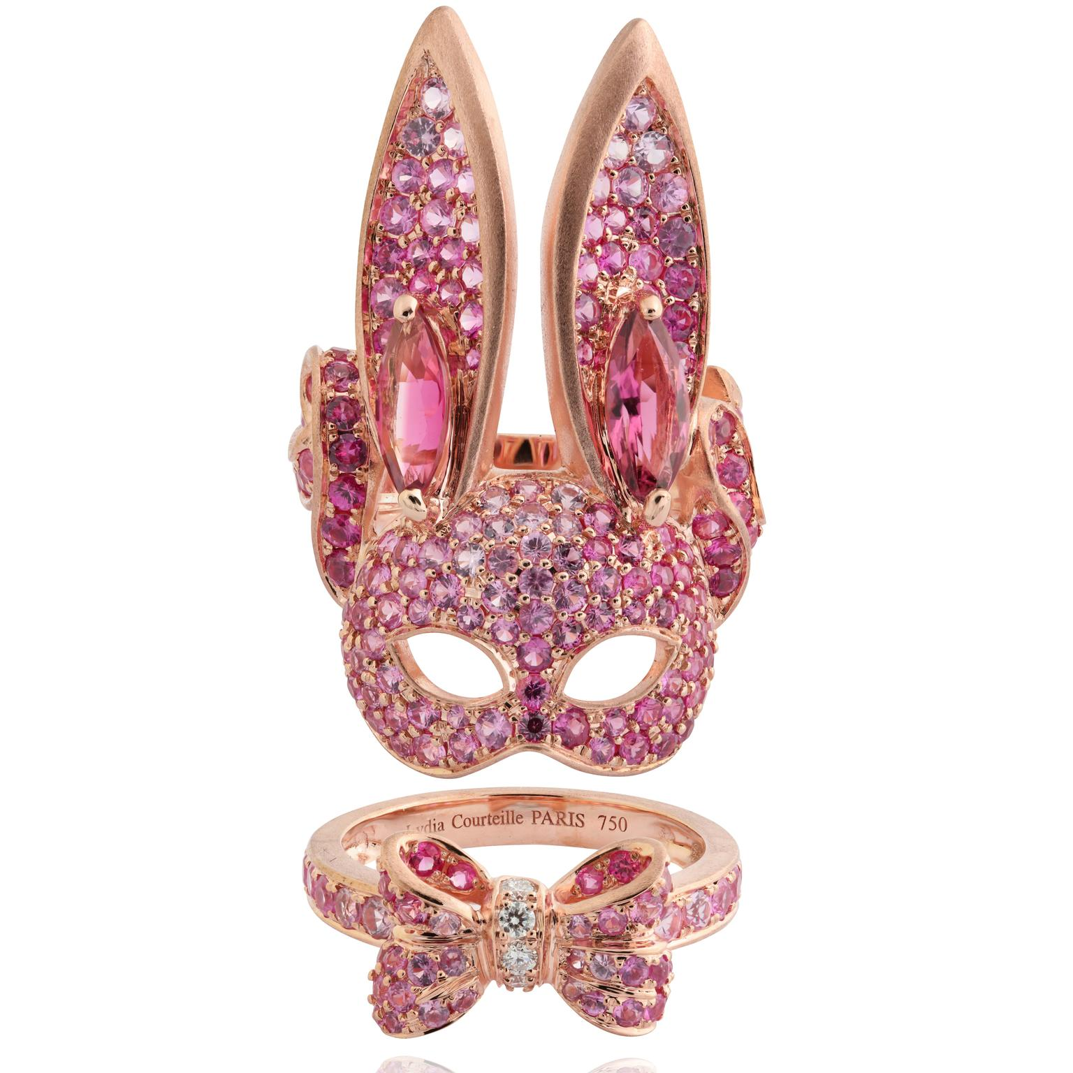Lydia Courteille La Vie en Rose double bunny rabbit ring copy