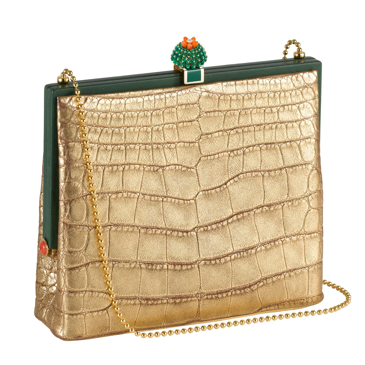 Gold Cactus de Cartier handbag
