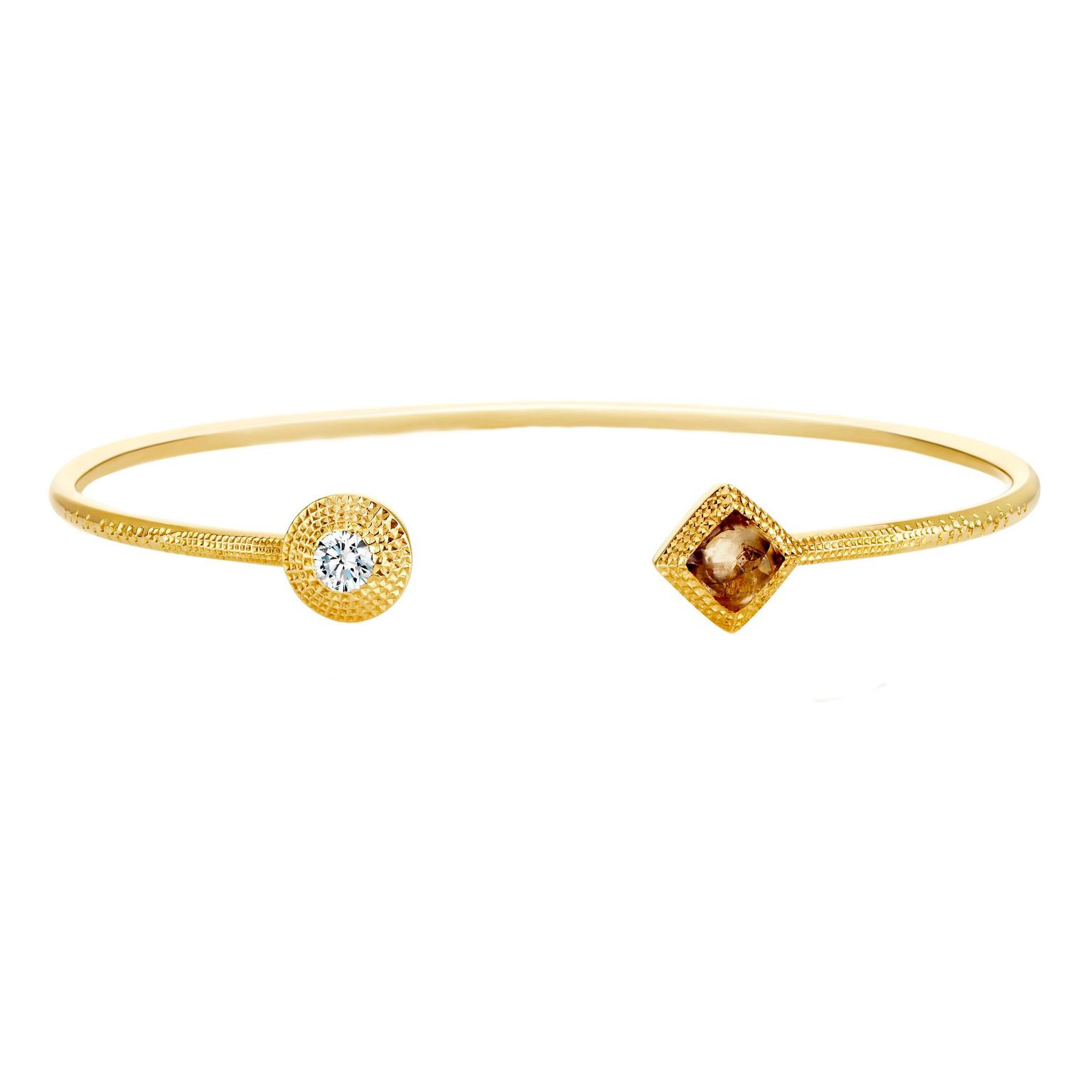 De Beers Talisman open bangle