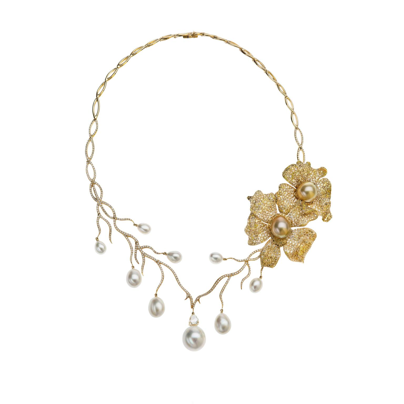 Autore Orange Blossom pearl necklace