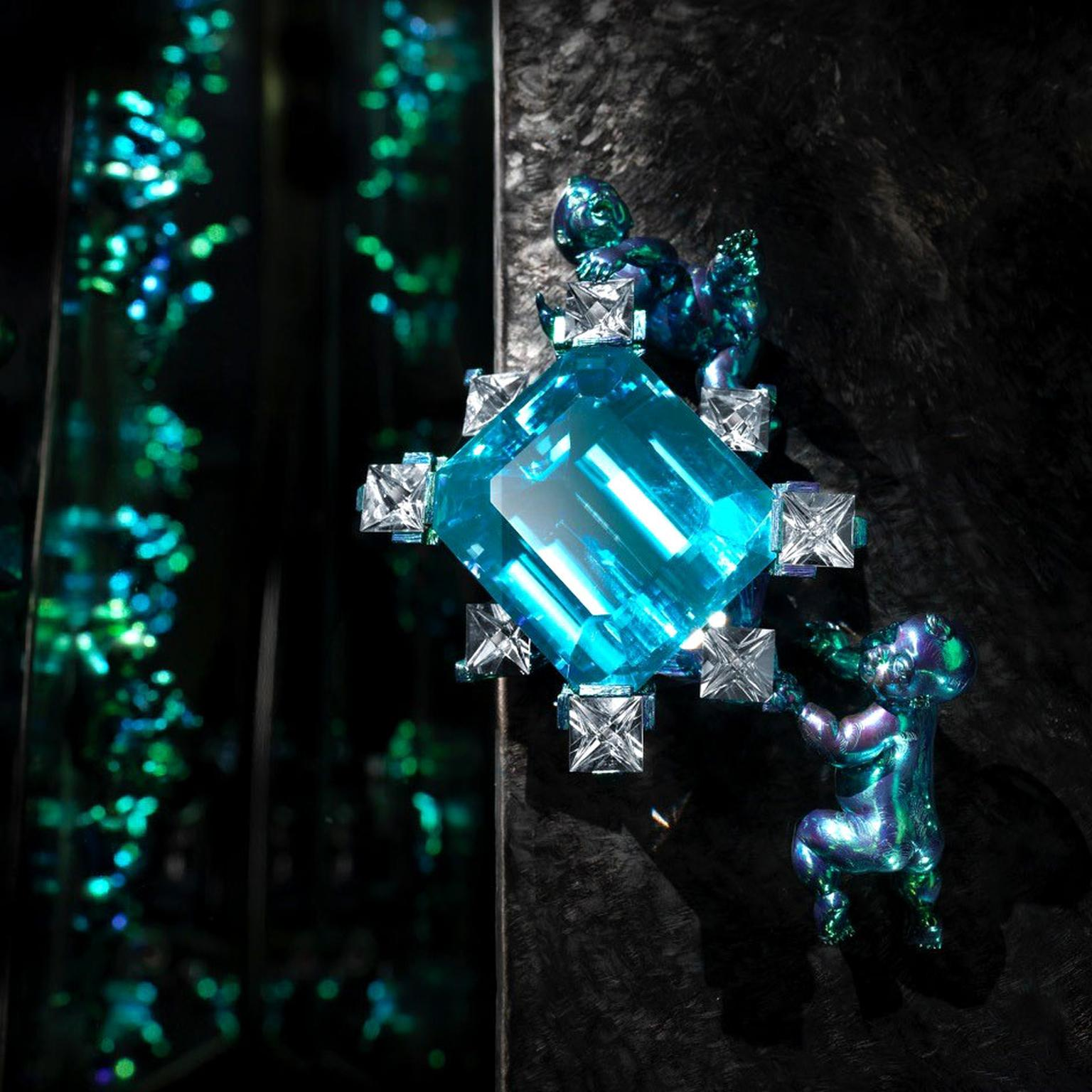 Wallace Chan blue topaz Origin of Light Series