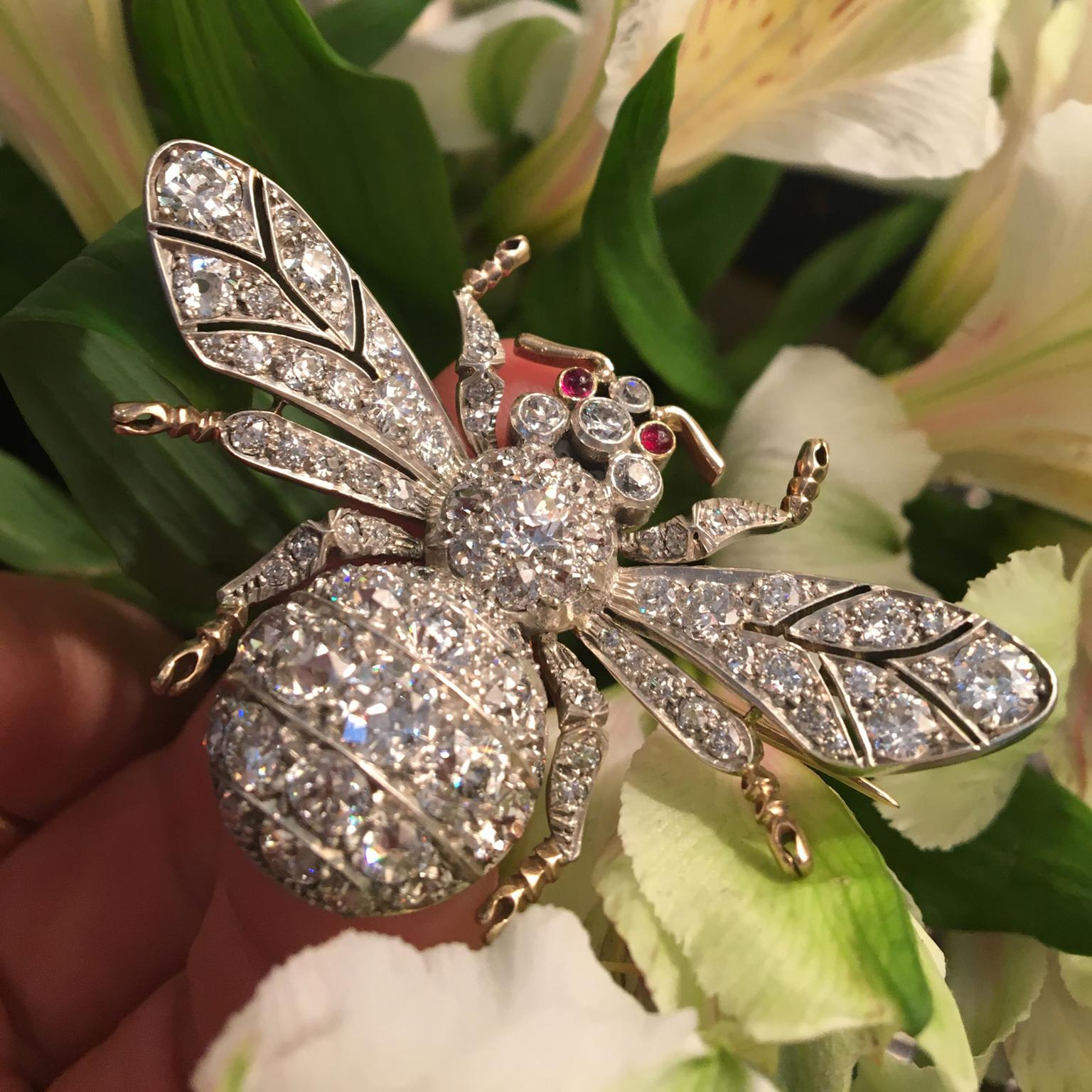 Bentley & Skinner bee brooch