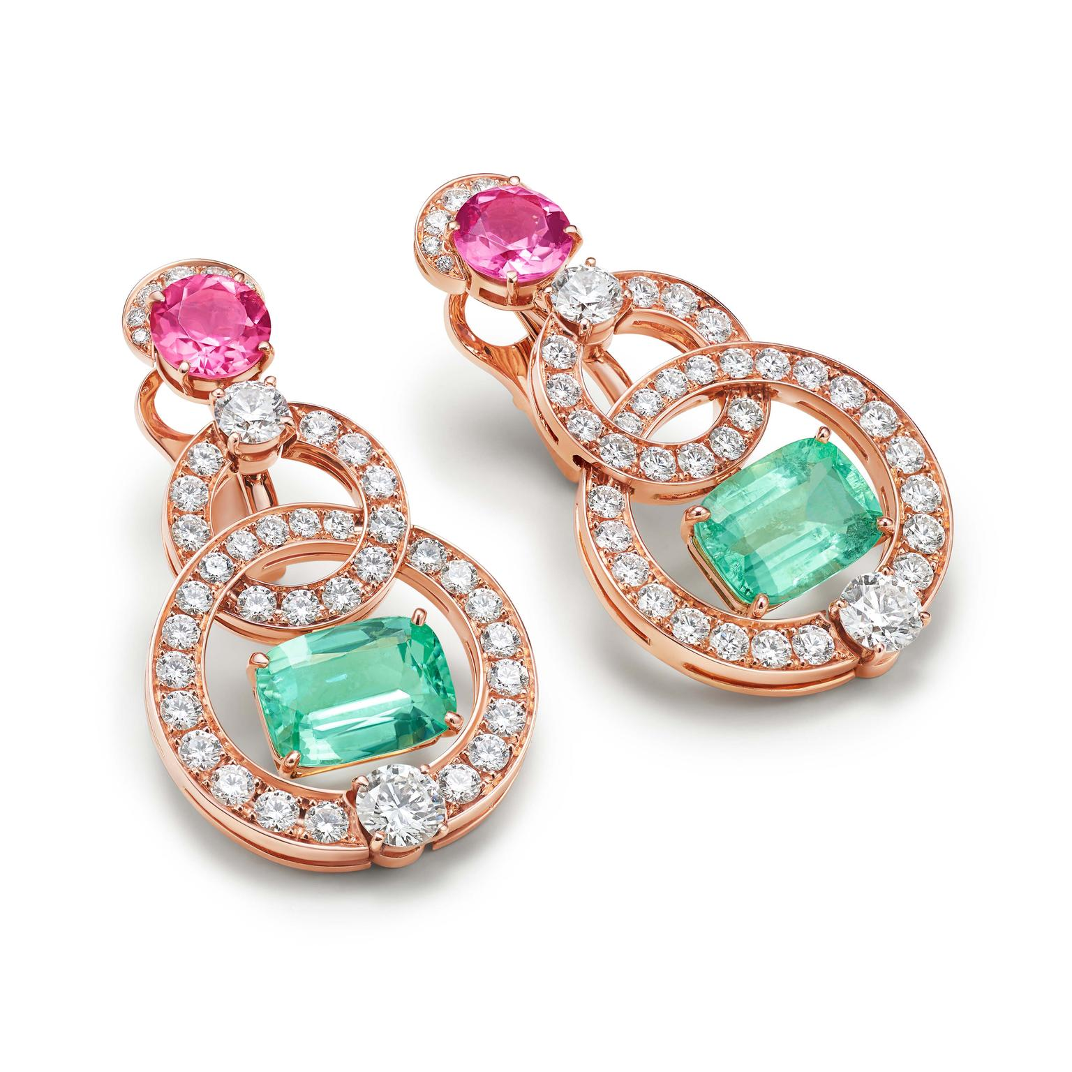 Minty green Paraiba tourmaline earrings by Bulgari