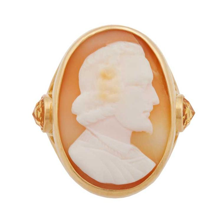 Brigid Blanco antique shell cameo ring