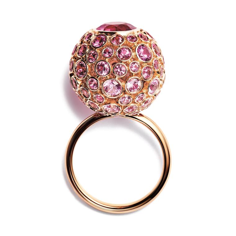 Tiffany Masterpieces Prism pink sapphire ring