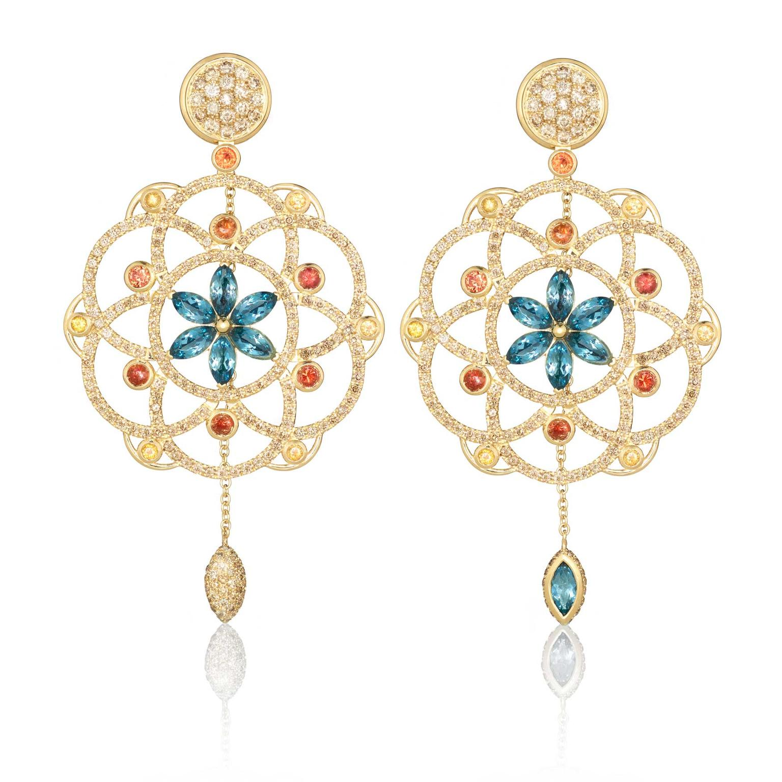 Lily Gabriella one of a kind Damali earrings