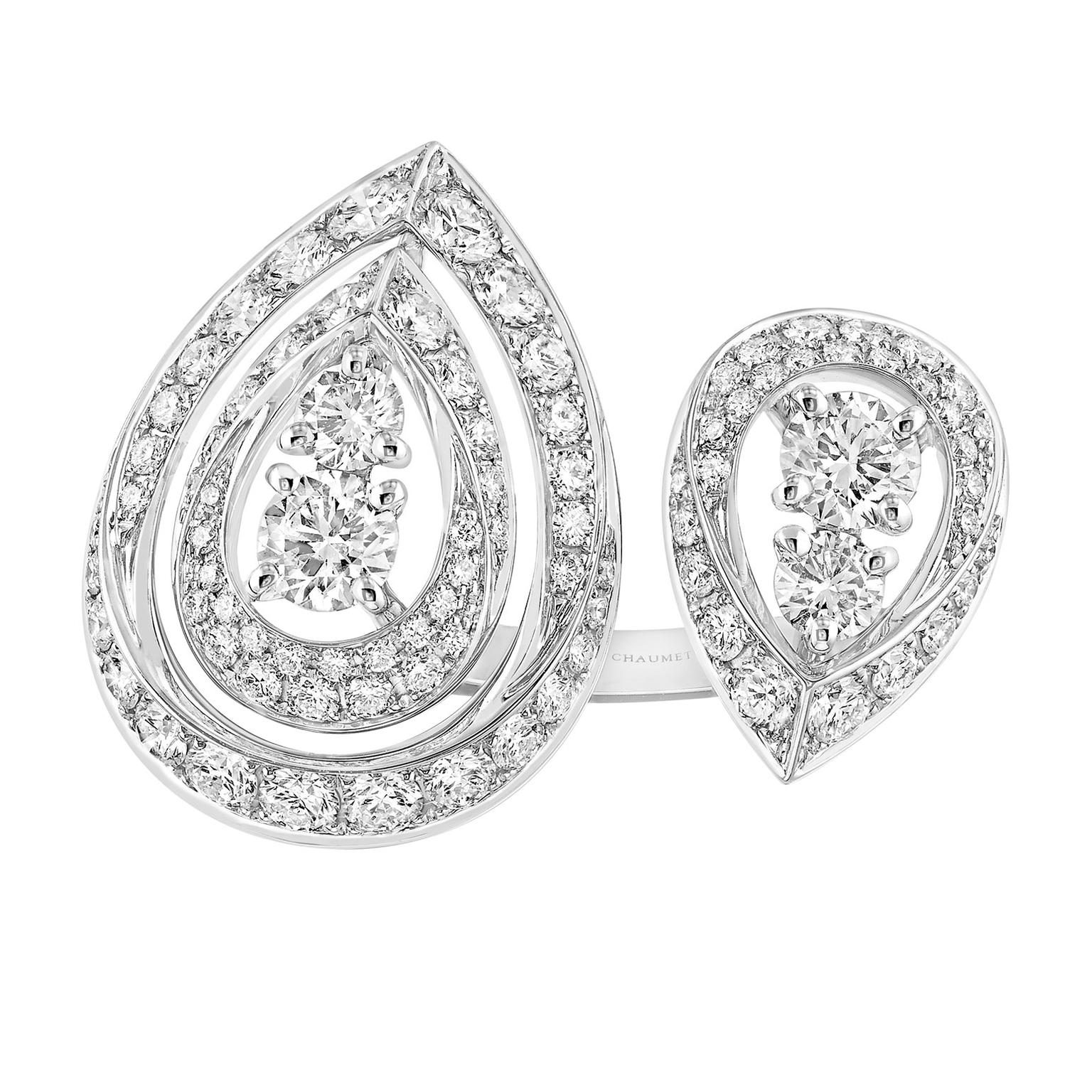 Chaumet Toi & Moi Joséphine Ronde de Nuit diamond ring in white gold