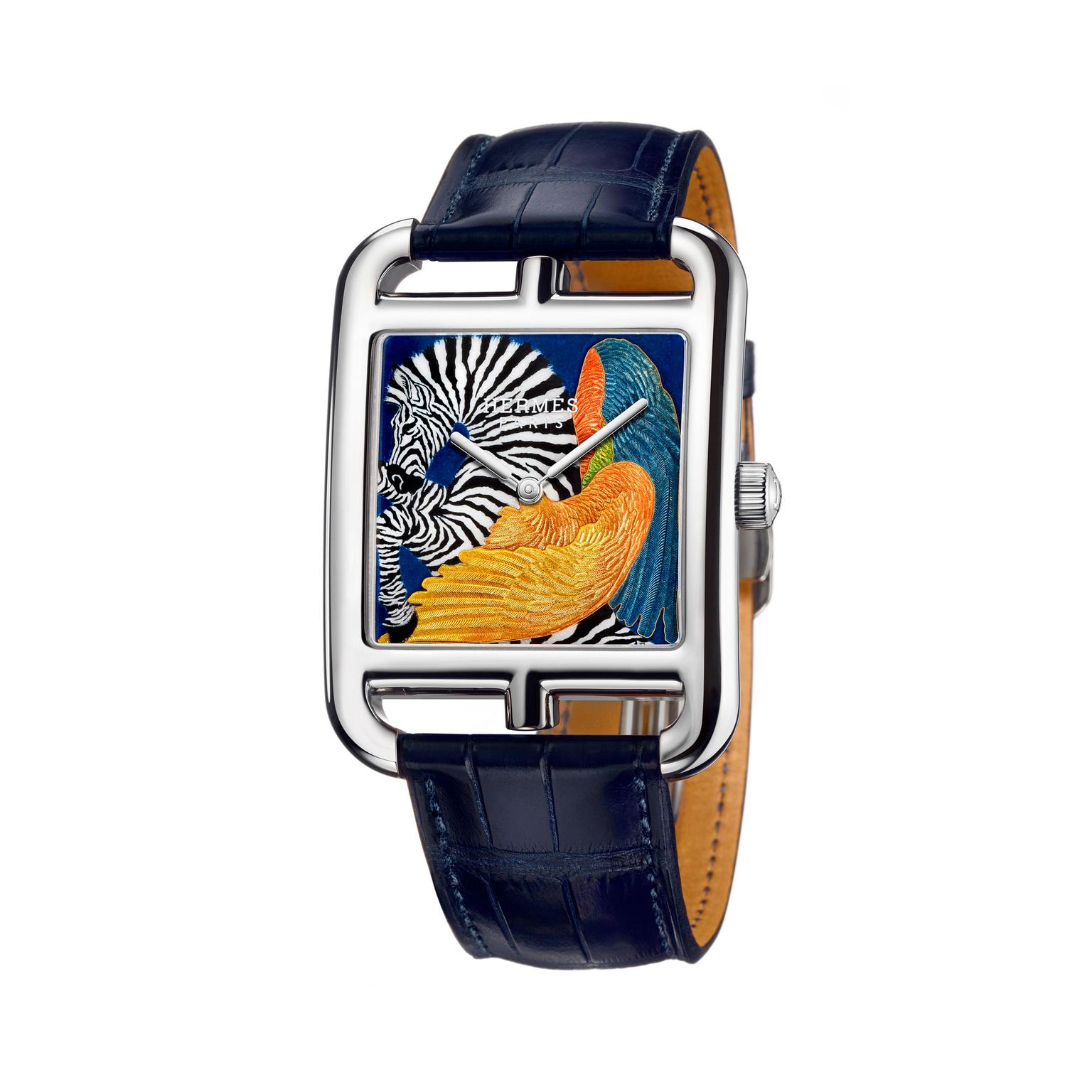Hermes Cape Cod Zebra Pegasus watch