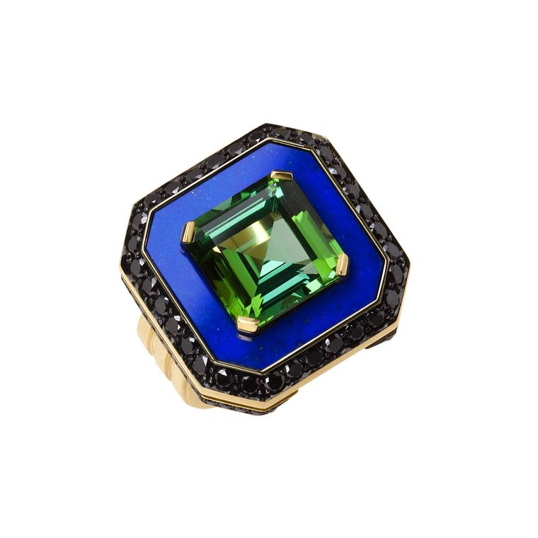 Ming Lampson Lapis Pool ring