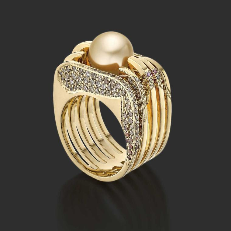 Vicky Lew Golden Chrysolampis Mosquitus ring
