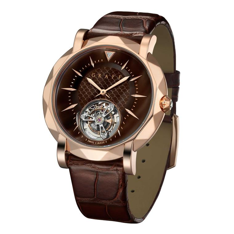 Graff Tourbillon with chocolate brown mother-of-pearl dial