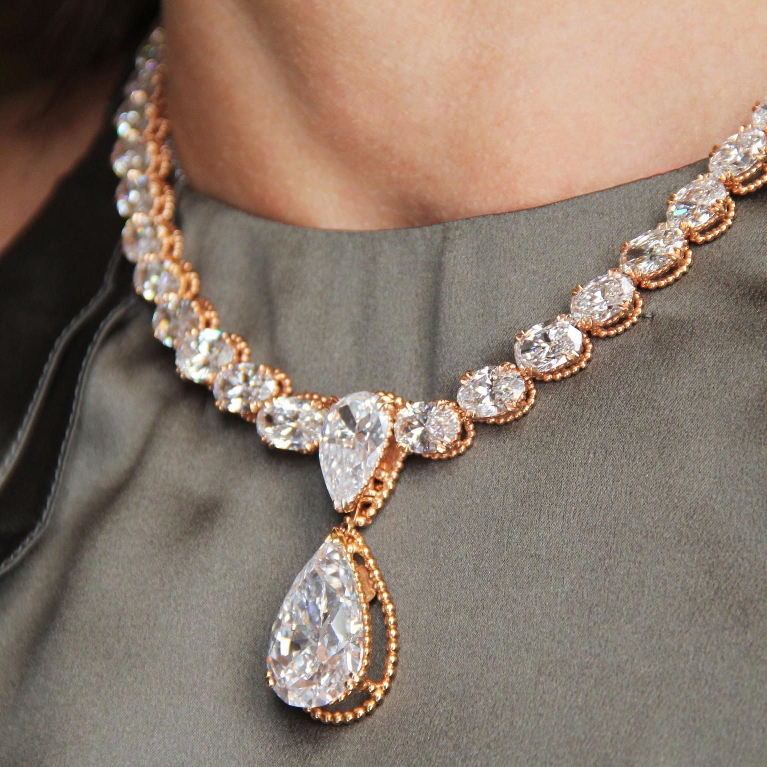 Alexandre Reza high jewellery diamond necklace