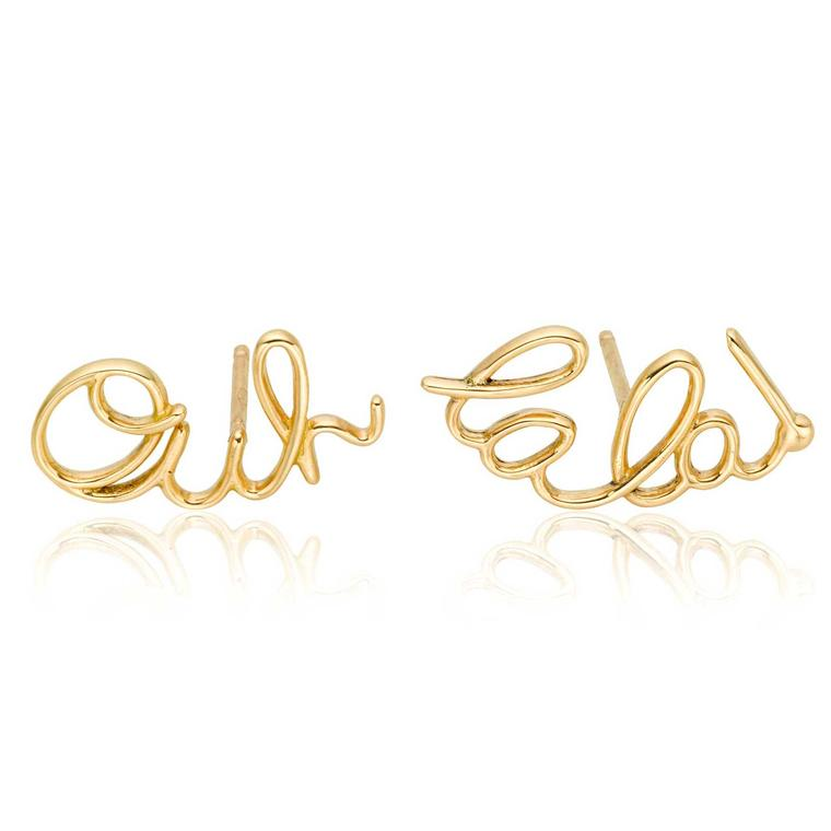 Lily Gabriella Ooh Lala earrings in yellow gold