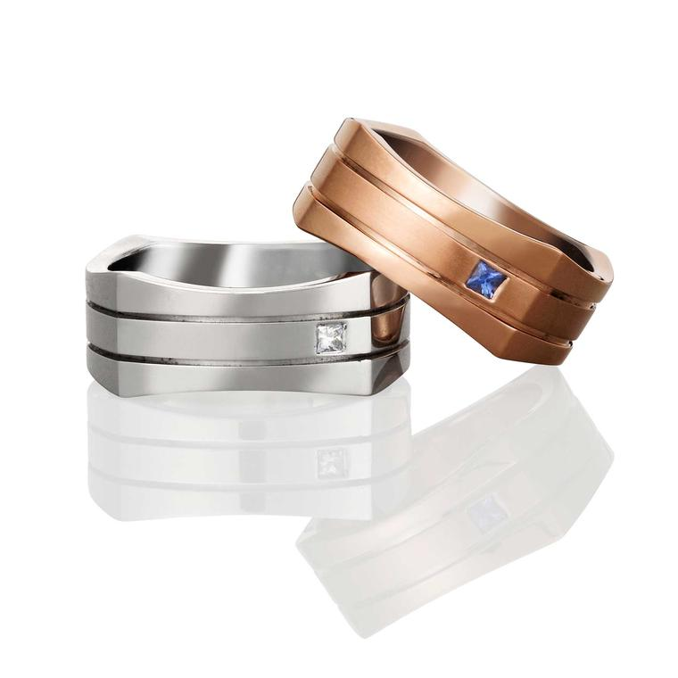 Creative men's wedding rings