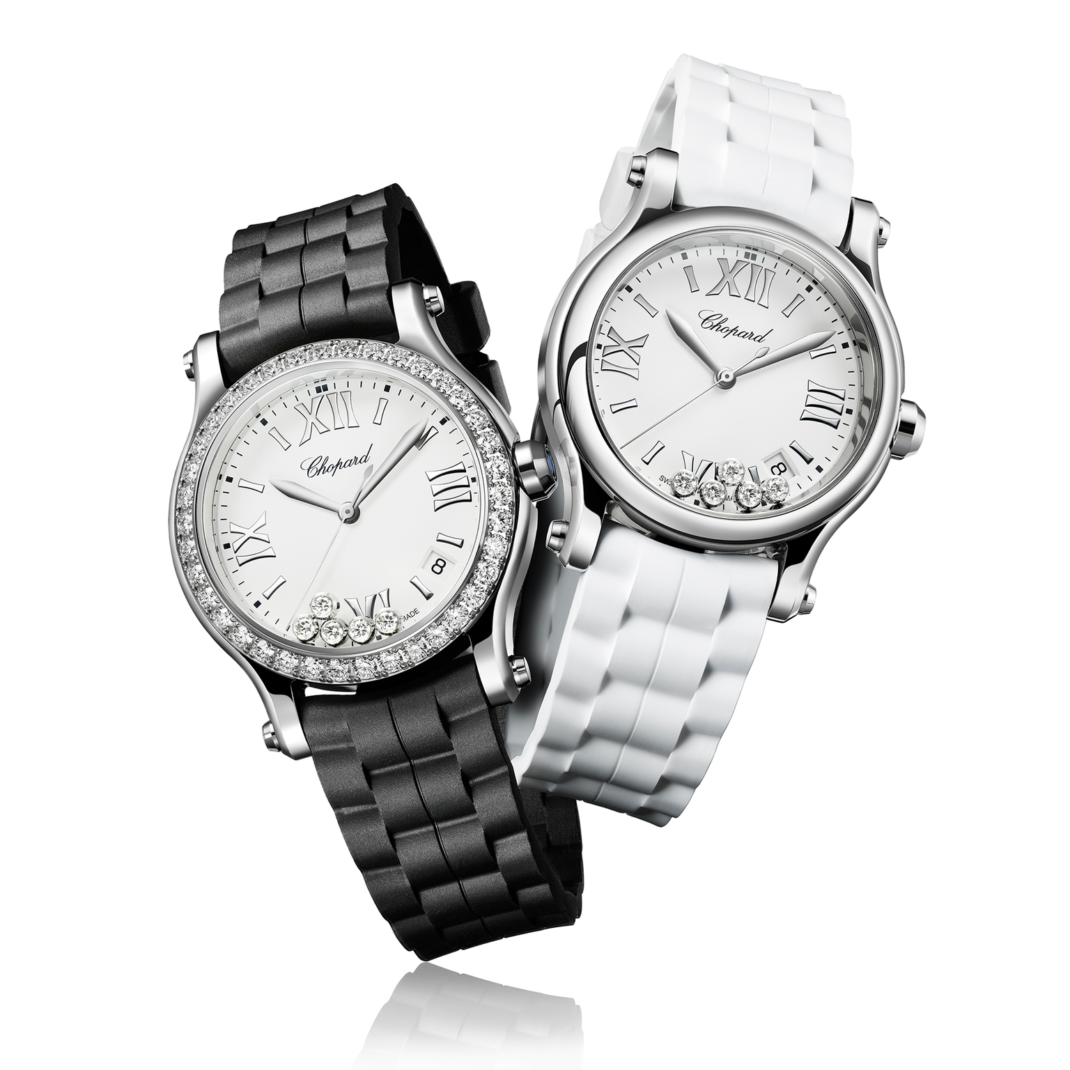 Chopard Happy Sport watches with interchangeable straps