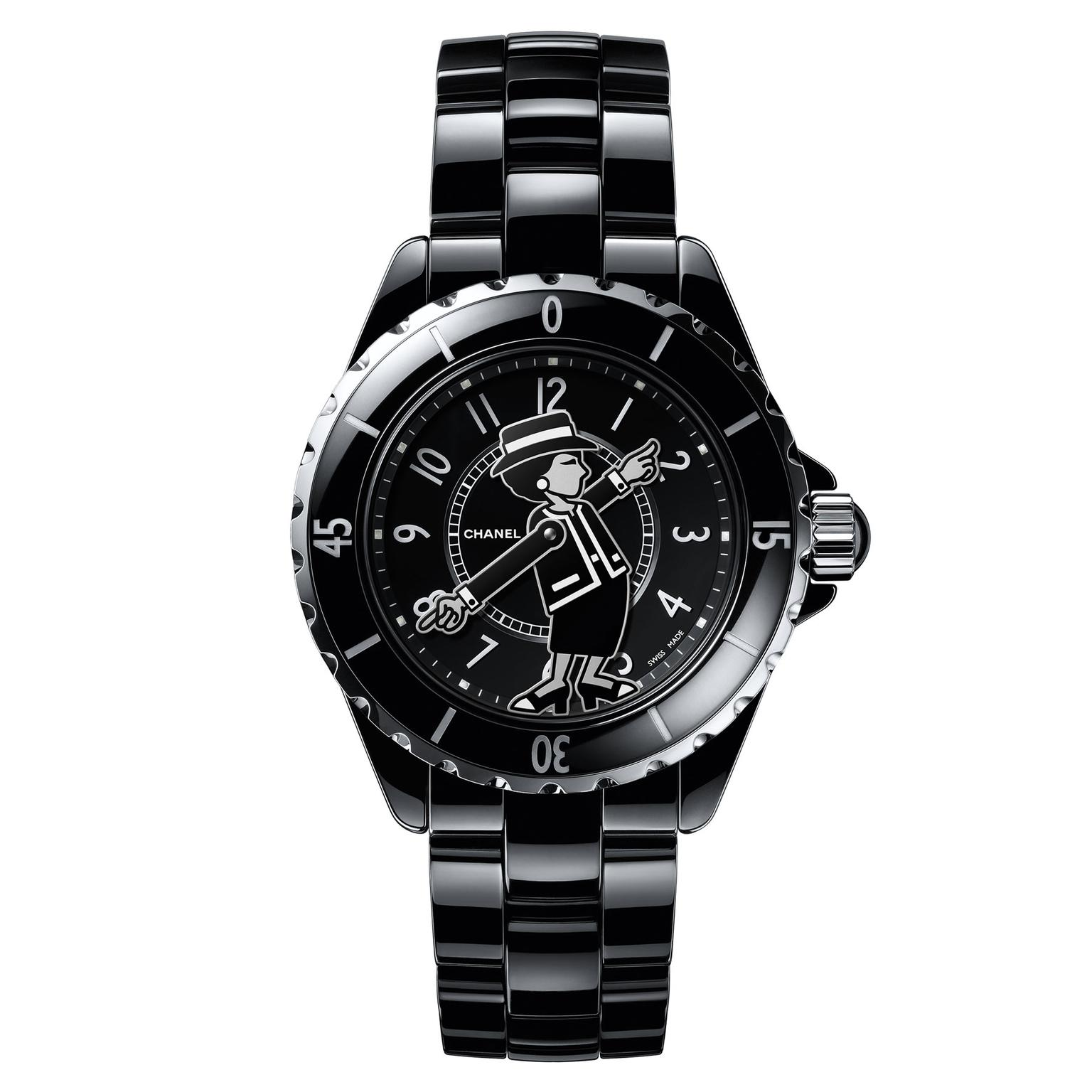 Chanel J12 Mademoiselle watch in black