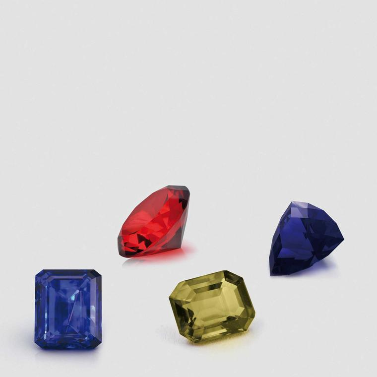 Coloured gemstones from the David Jerome Collection
