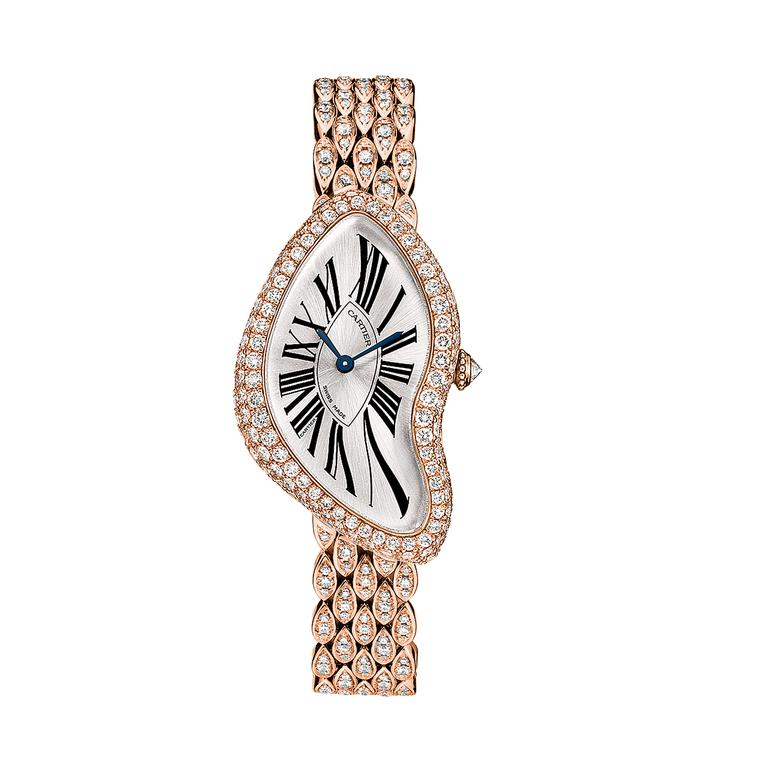 Cartier Crash watch in pink gold