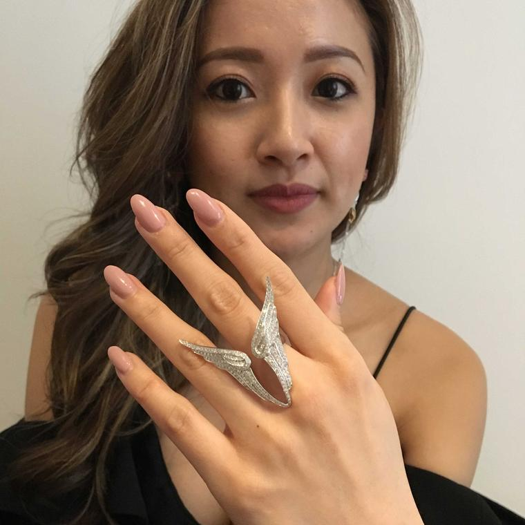 Sarah Zhuang wearing gold ring