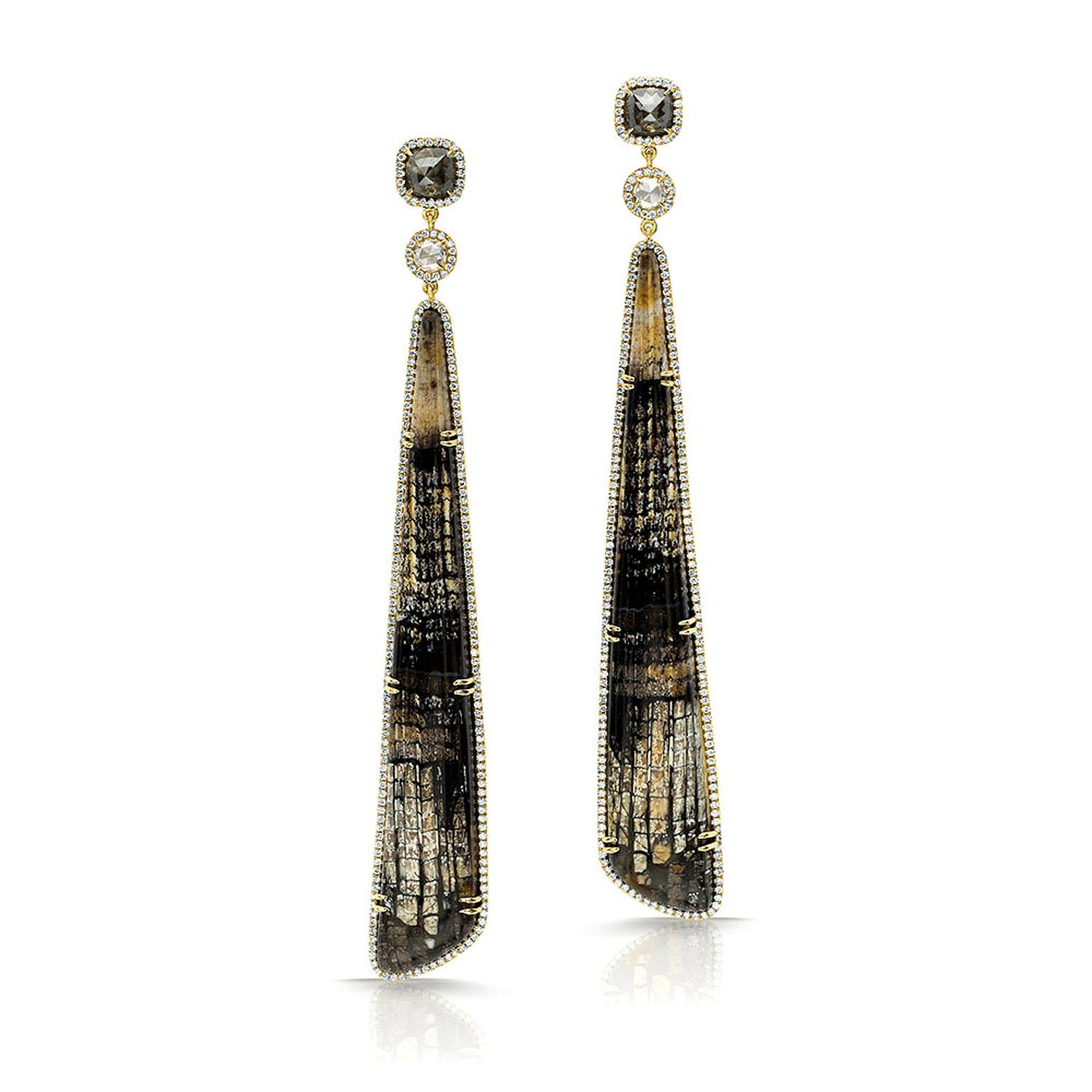Pamela Huizenga long earrings