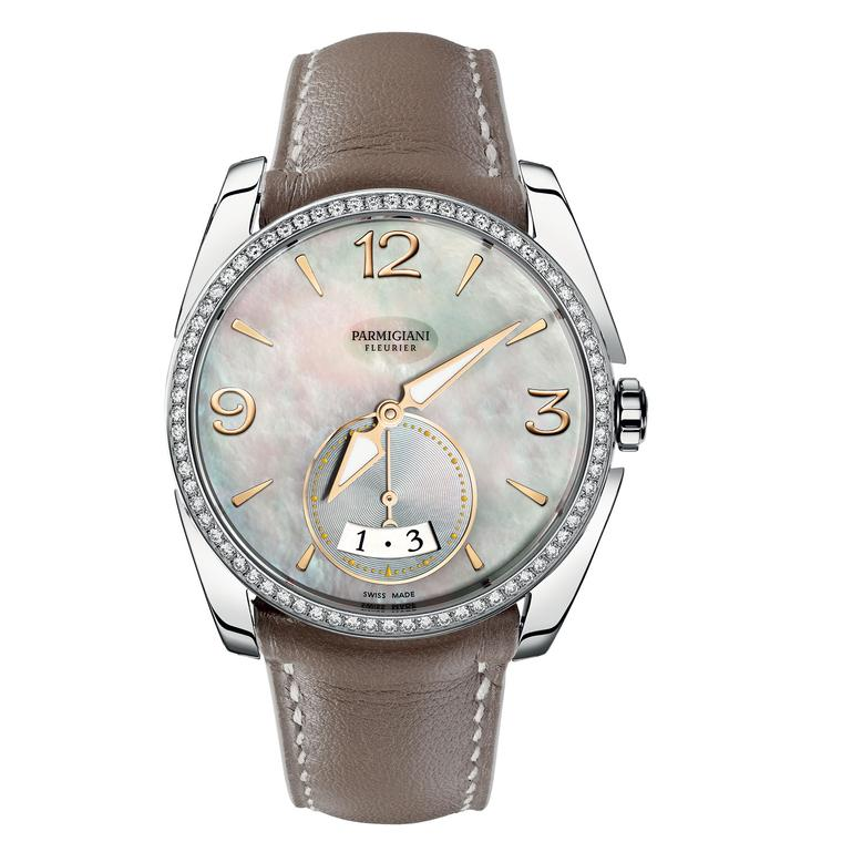 Tonda 1950 Metropolitaine steel watch with diamonds