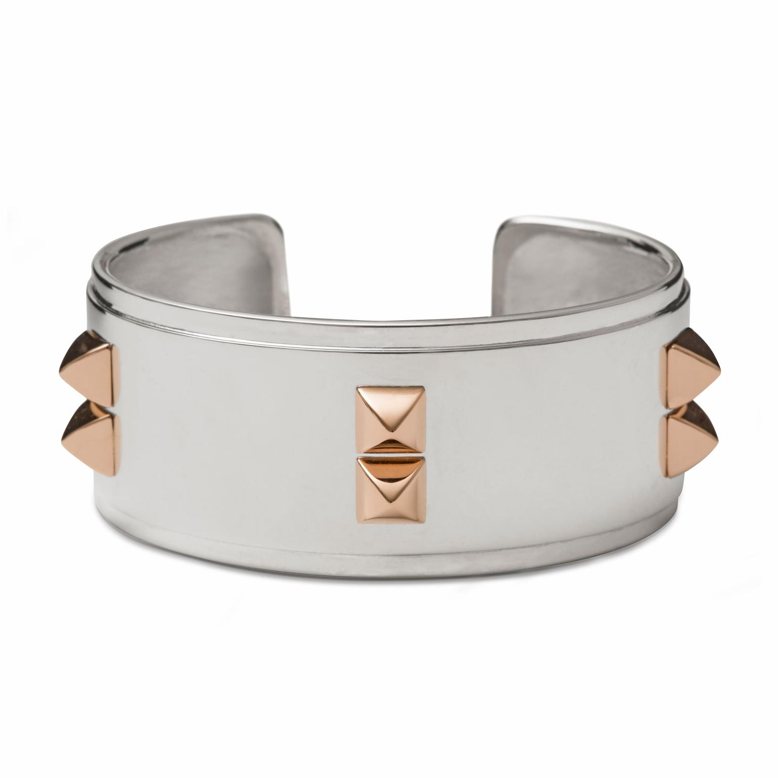 Nana Fink Adorée red gold and silver geometric bangle