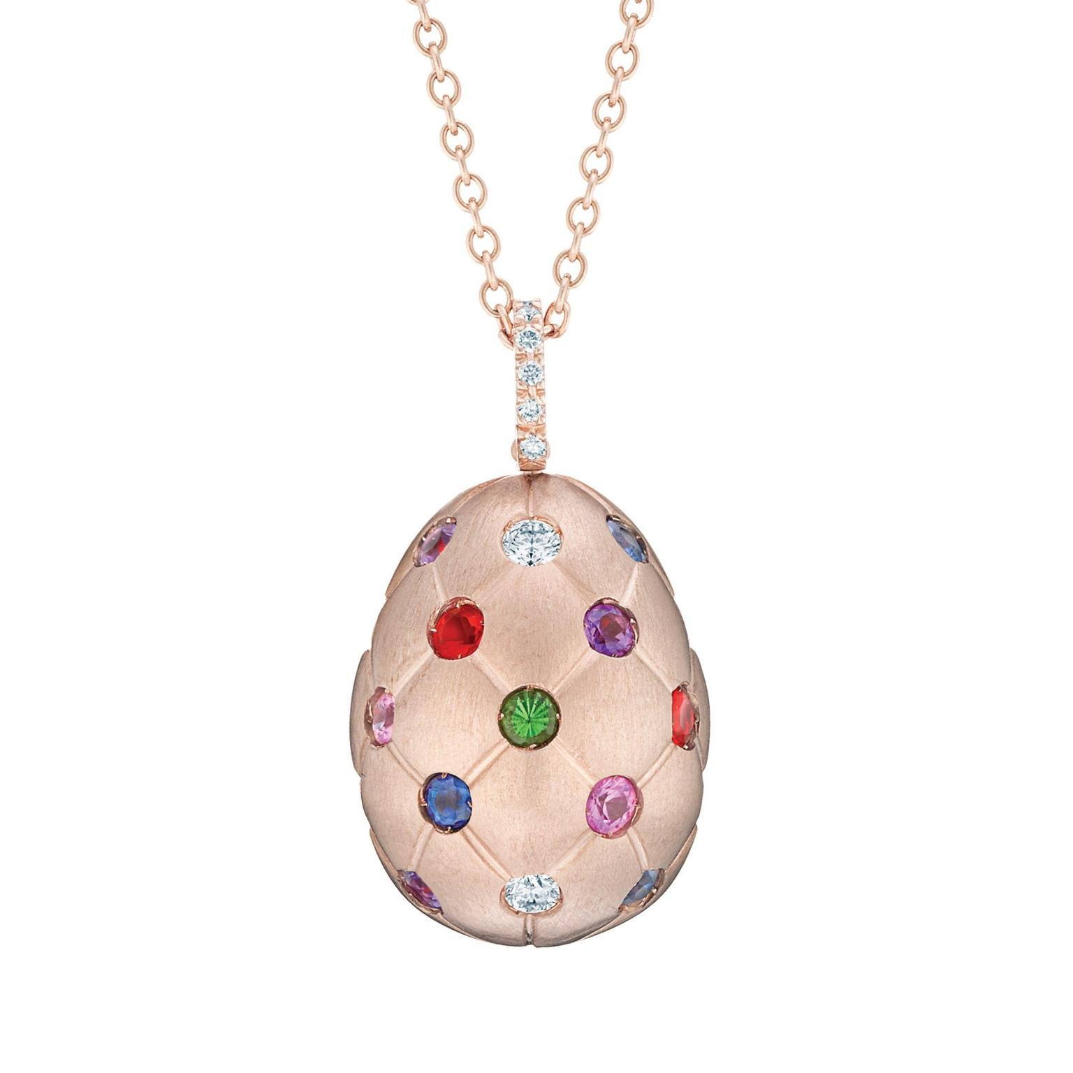 Treillage multicolour gemstone egg pendant faberg the treillage multicolour gemstone egg pendant aloadofball Choice Image