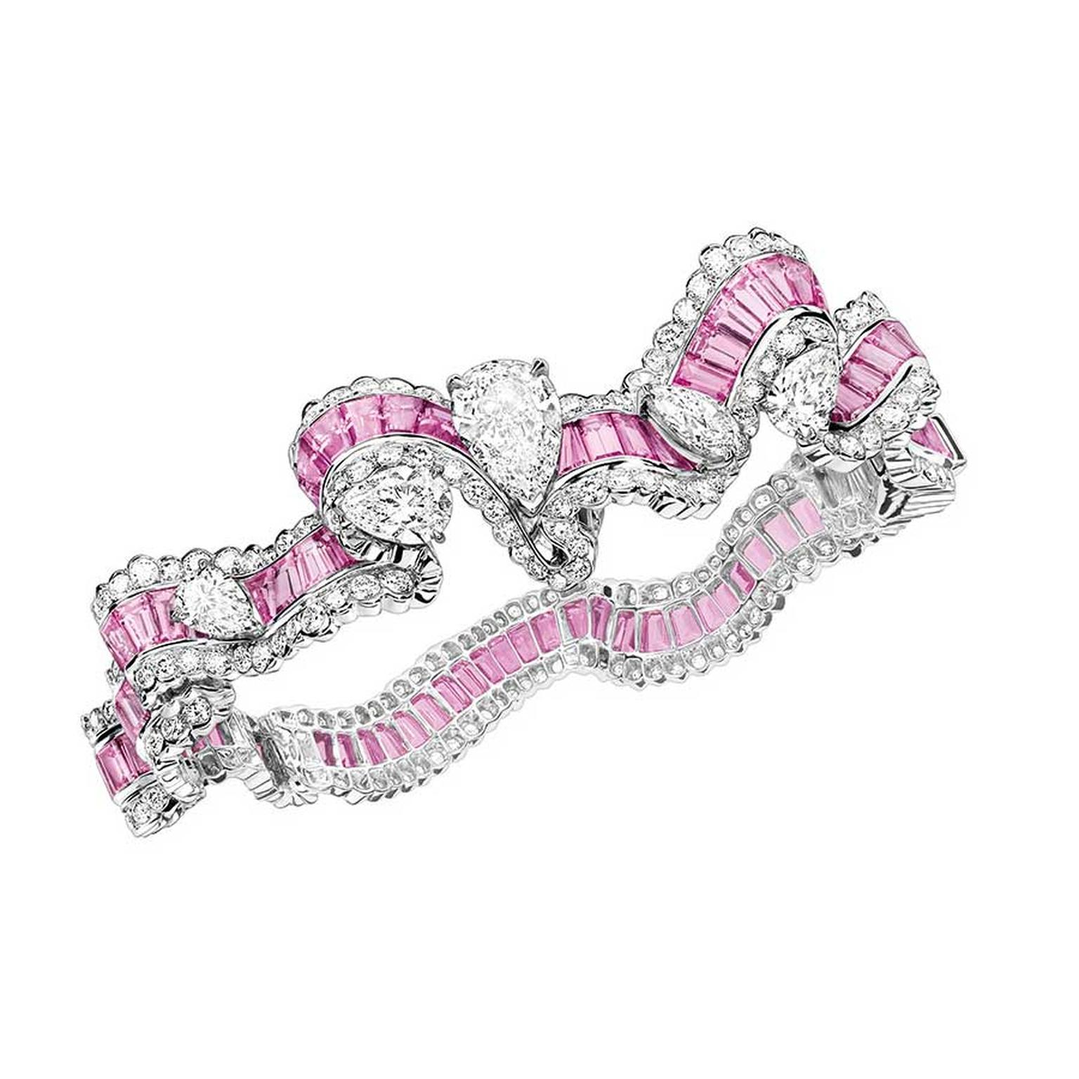 Dior Grain Saphir rose bracelet with pink sapphires
