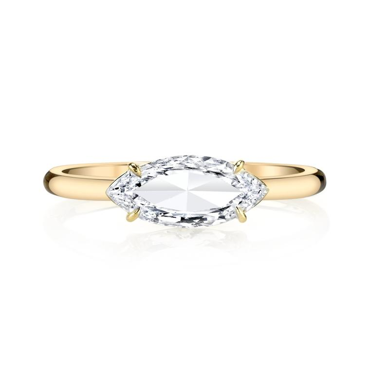 Anita Ko marquise diamond engagement ring