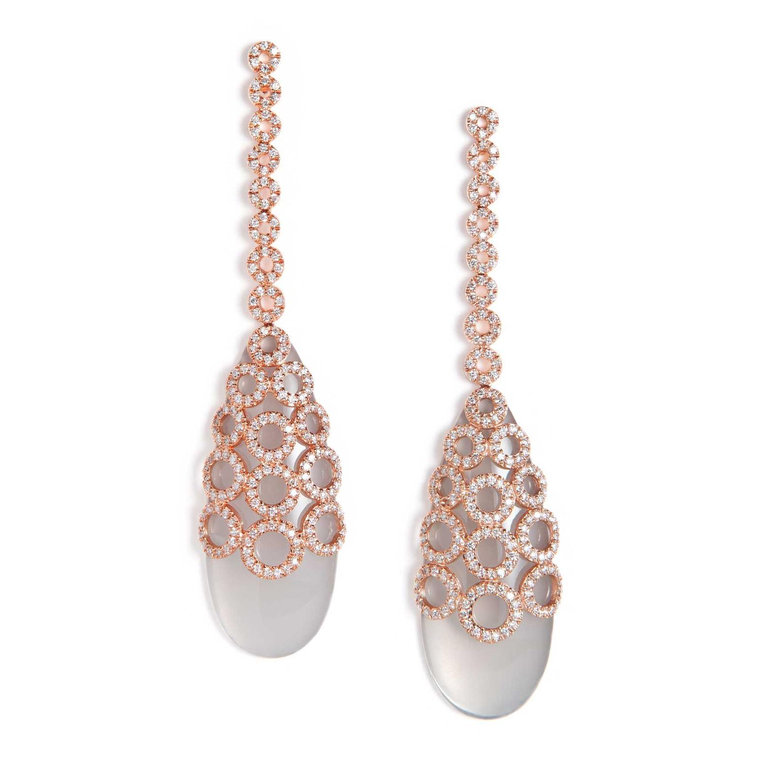 Carla Amorim Salt of Flower milky quartz earrings