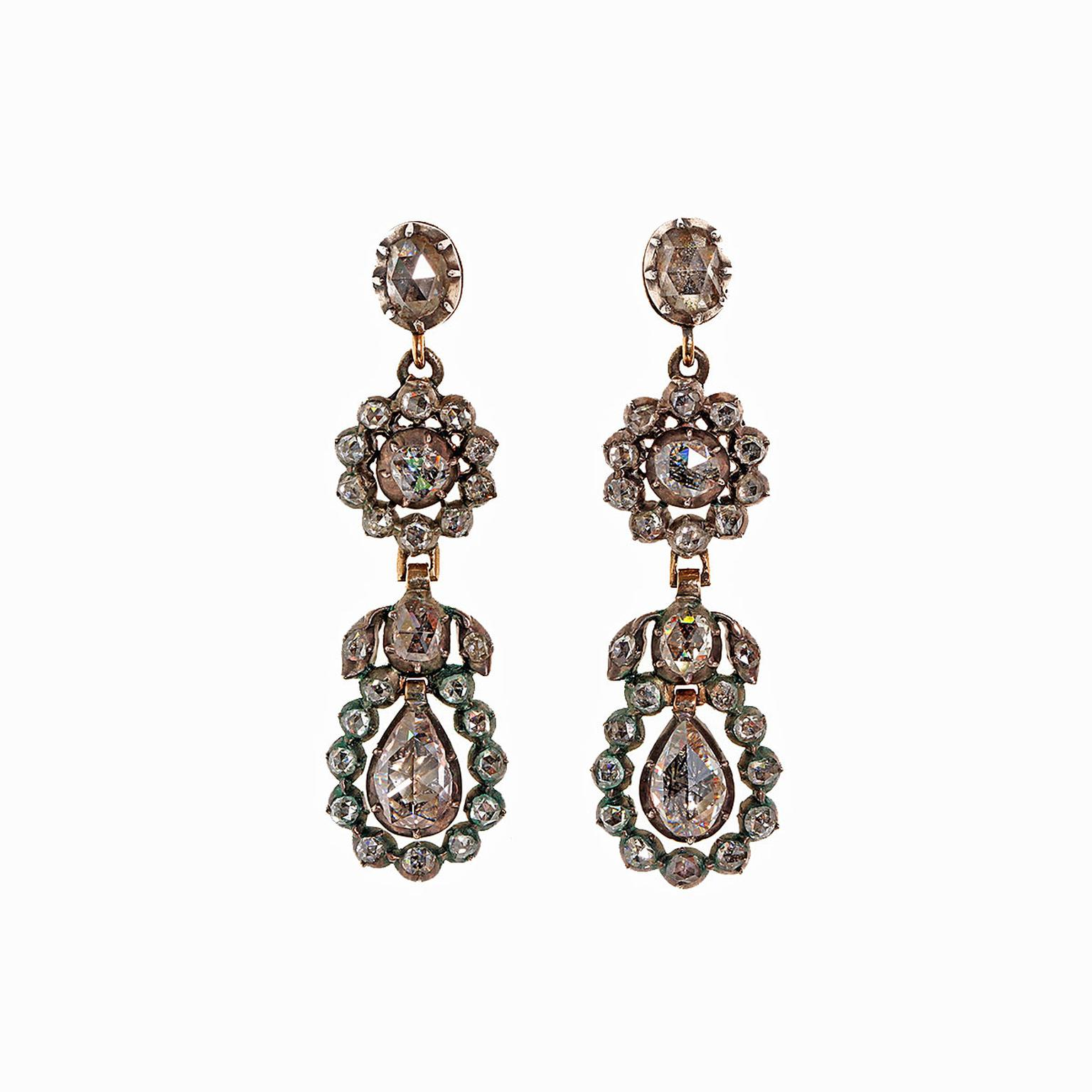 Bell and Bird antique earrings