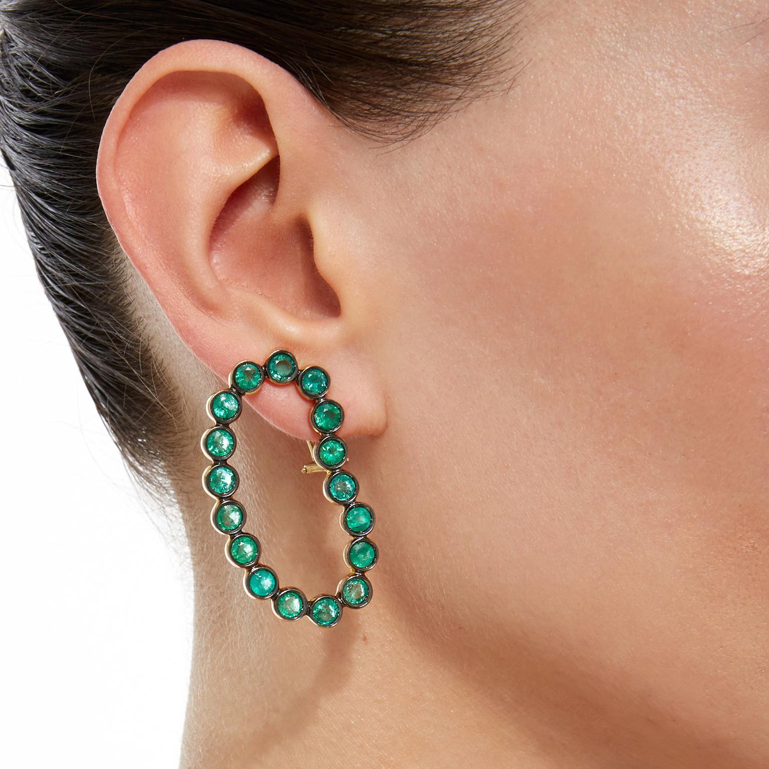 Ana Khouri GemfieldsxMuse Lourdes emerald earrings