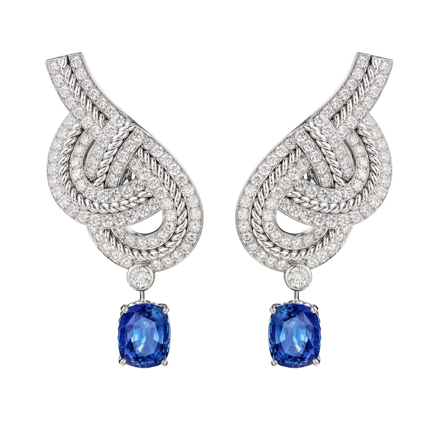 Chanel Flying Cloud Azurean Braid earrings