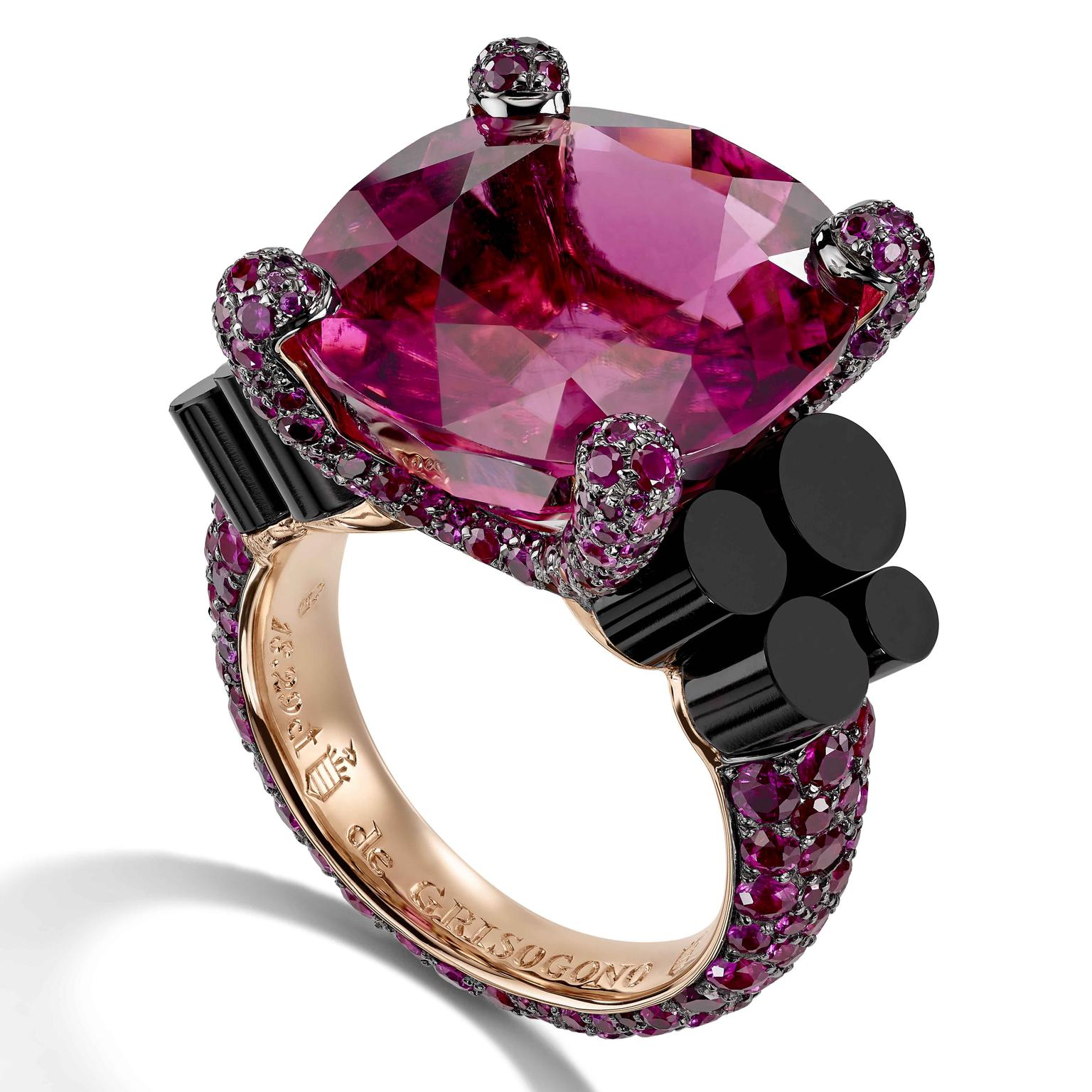 Rubellite ring from de GRISOGONO