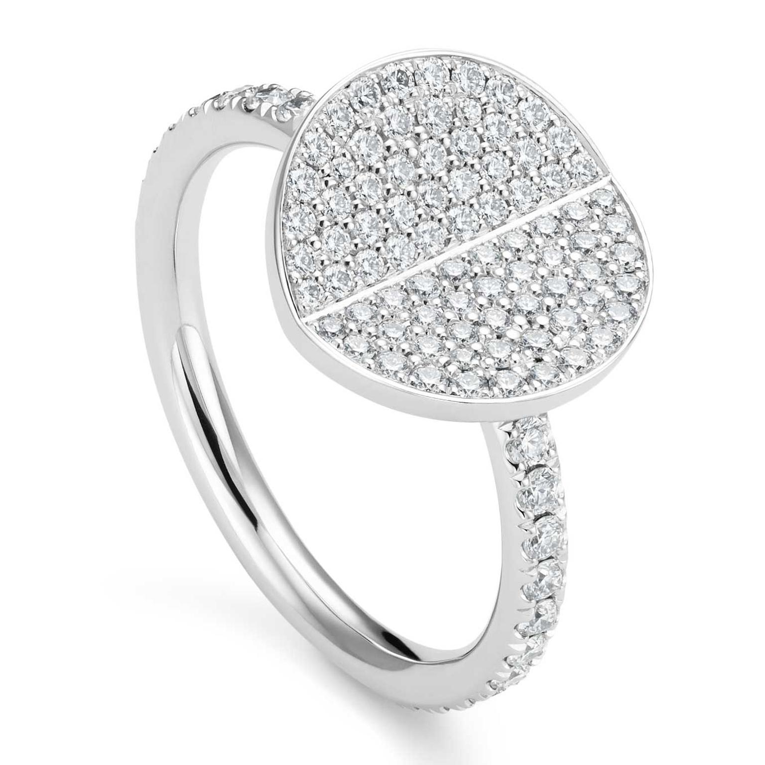 Bucherer B Dimension ring with diamonds in white gold Price £2600