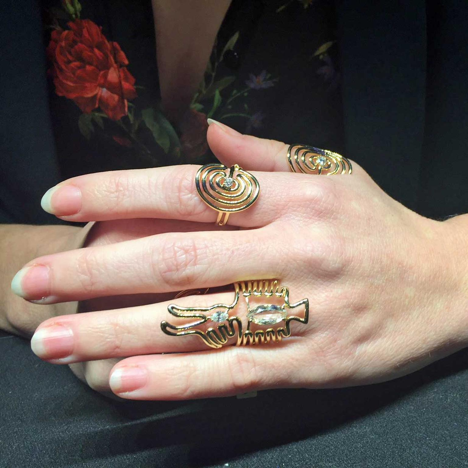 Rings from Lydia Courteille's Nazca collection
