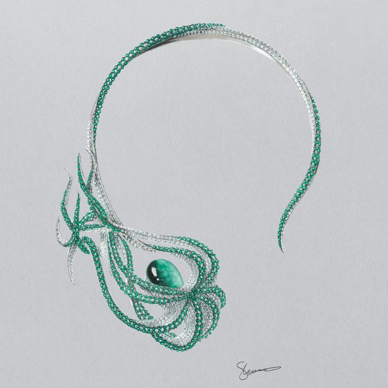 Shaun Leane Muzo Emerald necklace